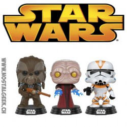 Funko Pop Star Wars Tarfful, Unhooded Emperor,Utapau Clone Limited Vinyl Figure