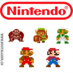 World of Nintendo-Pack de 5 8-Bit Mini Figures 6 cm Wave 2