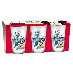 Disney Set de 3 verres Mickey Mouse et Donald Duck