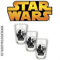 Star wars Darth Vader and Stormtrooper set o 3 glasses