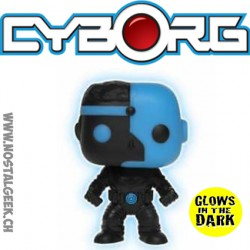 Funko Pop DC Justice League Cyborg (Silhouette) Phosphorescent Edition Limitée