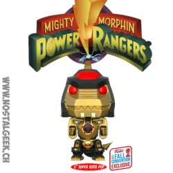 Funko Pop! NYCC 2017 Power Rangers Dragonzord Black And Gold 15cm Edition Limitée