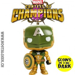 Funko Pop Games Marvel Contest of Champions Civil Warrior GITD Exclusive Vinyl Figure