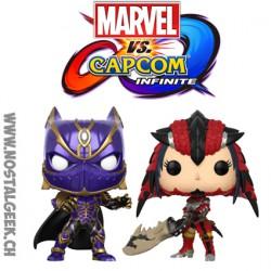 Funko Pop Games Marvel Vs Capcom Black Panther vs Monster Hunter 2-Pack