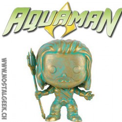 Funko Pop Heroes Batman vs Superman Aquaman Patiné Bronze Edition Limitée