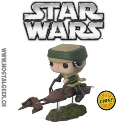 Funko Pop Ride Star Wars Luke Skywalker with Speeder Bike Chase Exclusive Vinyl Figure