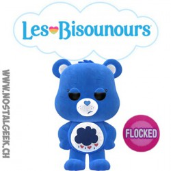 Funko Pop Animation Care Bear (Bisounours) Grumpy Bear (Grognours) Flocked Edition Limitée