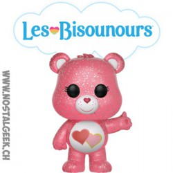 "Funko Pop Animation Care Bear (Bisounours) Love-A-Lot ""Touchérie"" Glitter Edition Limitée"