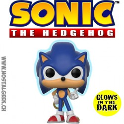 Funko Pop Games Sonic Sonic with Gold Ring Phosphorescent Edition Limitée