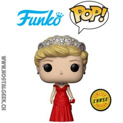 Funko Pop Royals Diana Princess of Wales (Red Dress) Chase Edition Limitée
