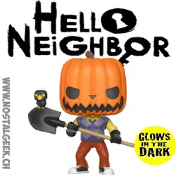 Funko Pop Games Hello Neighbor Pumpkin Head GITD Exclusive Vinyl Figure