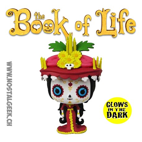 Funko Pop The Book Of Life (La Légende de Manolo) La Muerte Phosphorescent Edition Limitée