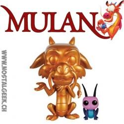 Funko Pop Disney Mulan Mushu (Gold) & Cricket Edition Limitée