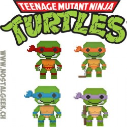 Bundle Funko Pop Teenage Mutant Ninja Turtles 8-bit 4 Figurines