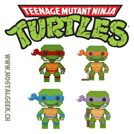 Funko Pop Teenage Mutant Ninja Turtles 8-bit Bundle 4 Vinyl Figures